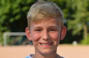 Tim Demond, 11, ist Mittelfeldspieler beim  Inter 96 Bergisch Gladbach (Bild: Christopher Arlinghaus)