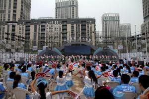 Das Olympische Dorf in Nanjing. Dort sin ddie jungen Sportler untergebracht (Bild: dpa)