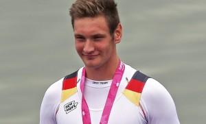 Gold für Deutschland: Ruderer Tim Ole Naske kam am Mittwoch als Erster ins Ziel. (Bild: dpa)