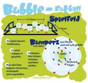 Kindergrafik:Bubble-Fußball (ai-eps)