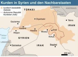 Kurden in Syrien und den Nachbarstaaten (Aktualisierung, 8.10.14) (ai-eps)