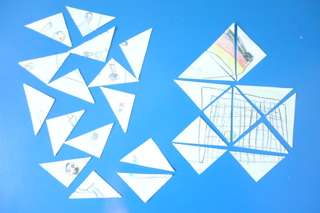 dreieck puzzle vorlage