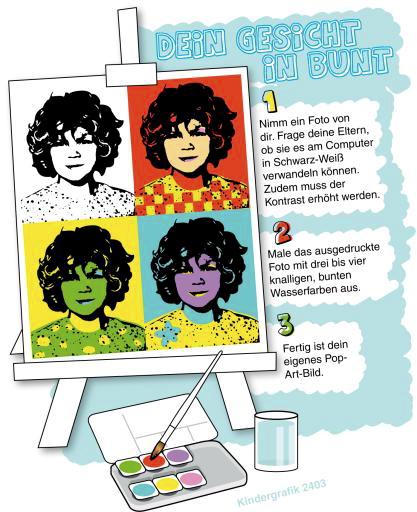 Kindergrafik: Dein Gesicht in bunt (ai-eps)