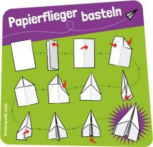 Kindergrafik: Papierflieger basteln (ai-eps)