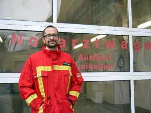 Notarzt Dt. Daniel Schachinger (Foto: dpa)