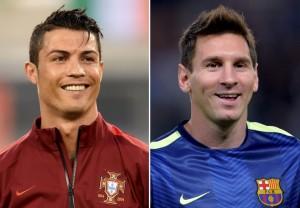 Cristiano Ronaldo (links) und Lionel Messi