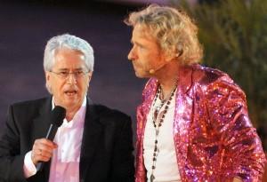 Thomas Gottschalk (rechts) moderierte die Show lange vor Markus Lanz. Frank Elstner (links) erfand sie.