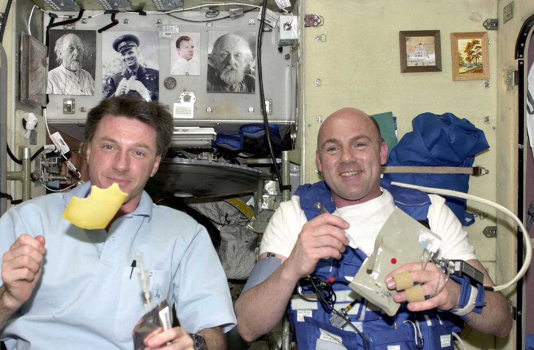 astronauts eating almonds in space - photo #12