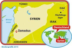 Kindergrafik:Karte von Syrien (12.03.2015)