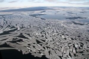 Bei Grönland treiben selbst im Meer eine Menge Eisbrocken herum. (Foto: Privat/Jens Koblitz)