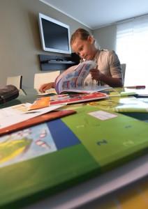 Bis ein Schulbuch fertig ist, dauert es eine Weile. Ein ganzes Team an Experten arbeitet daran. (Foto: dpa)