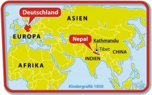 Kindergrafik: Wo liegt Nepal? (Aktualisierung) (26.04.2015)