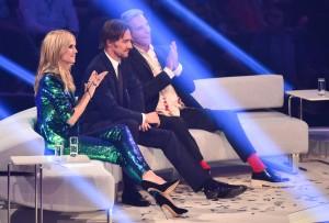 Da war noch alles in Ordnung: Die Jury von Germany`s Next Topmodel: Heidi Klum, Thomas Hayo und Wolfgang Joop. (Foto: dpa)