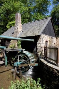 Ein Wasserrad am Oelchenshammer in Engelskirchen (Fotos: LVR)