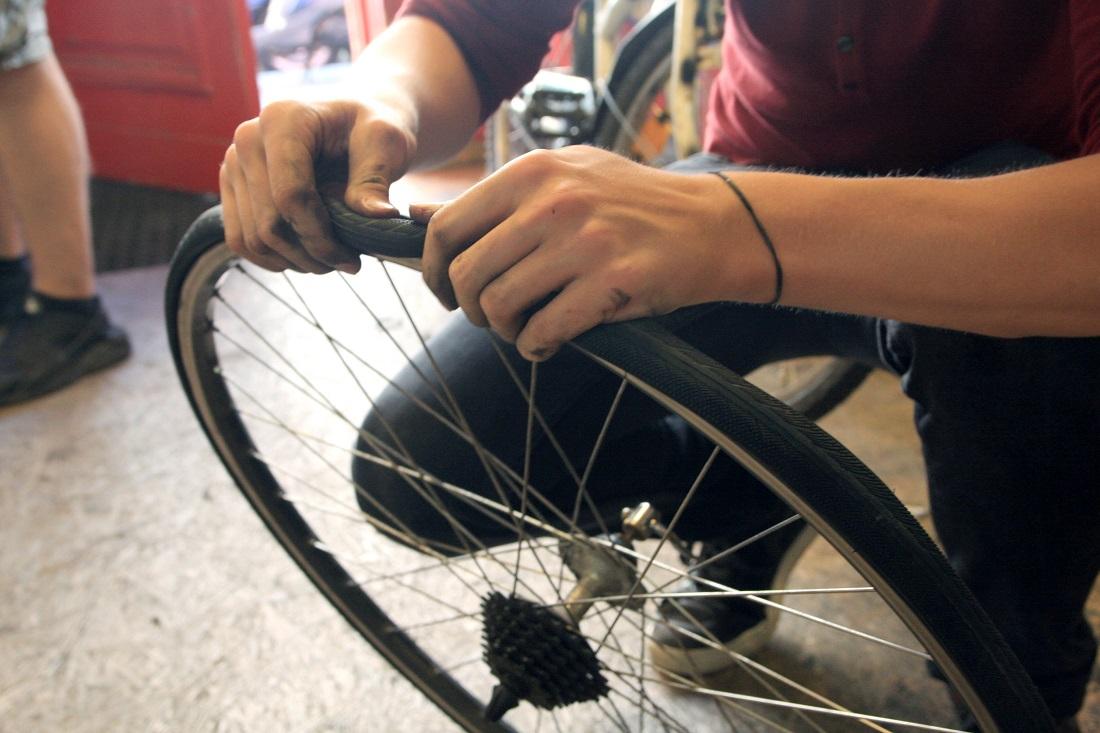 reifen wechseln fahrrad